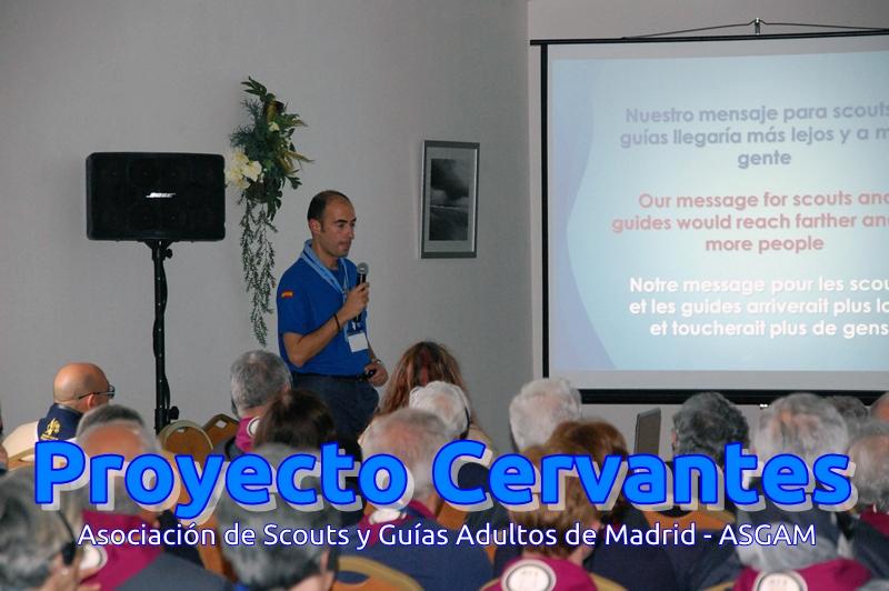 Presentación del Proyecto Cervantes en el XIV Encuentro del Mediterráneo de ISGF – 2012