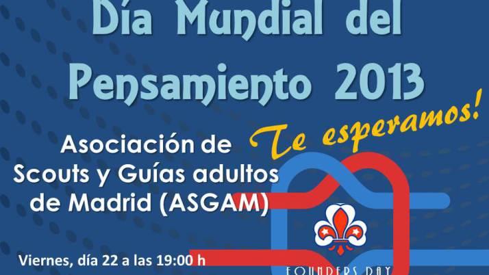 Celebra el Día Mundial del Pensamiento 2013 con ASGAM