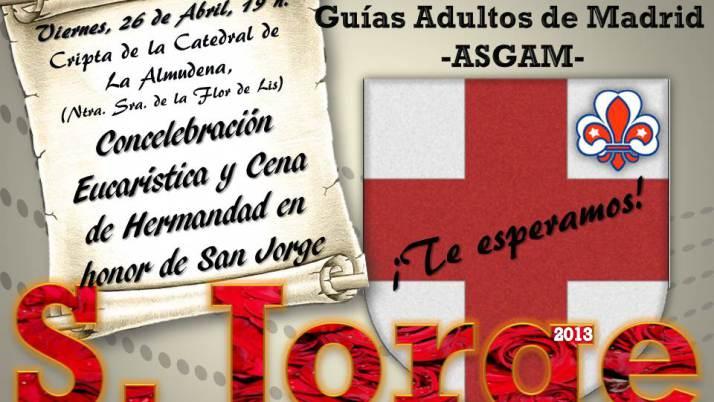 ASGAM convoca a todos los Scouts y Guías de Madrid en la celebración de San Jorge