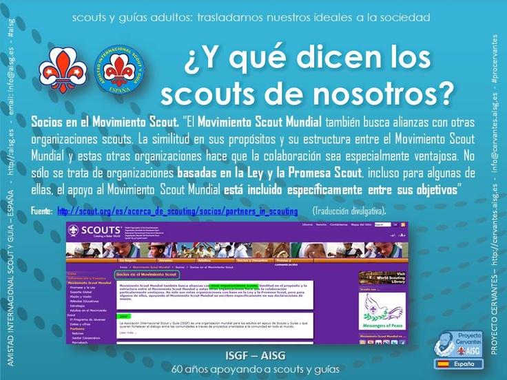 Somos socios del Movimiento Scout