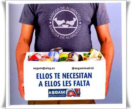ASGAM participará en la Gran Recogida de Alimentos de Madrid