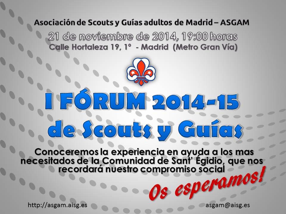 Compromiso Social en el I Forum de Scouts y Guías 2014/15
